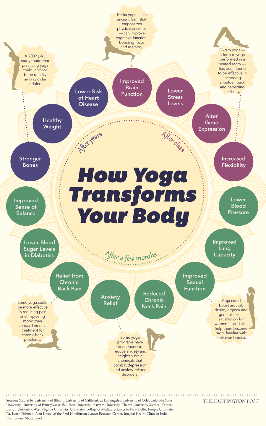 Your body on yoga infographic