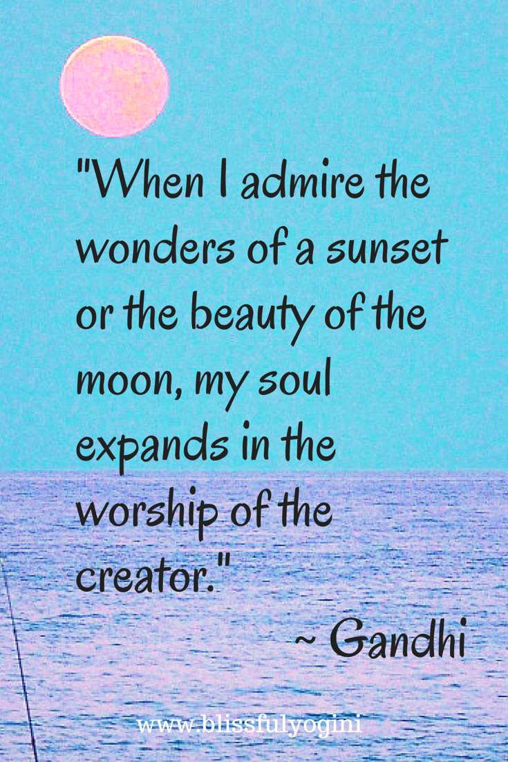 The beauty of the moon ~ Gandhi